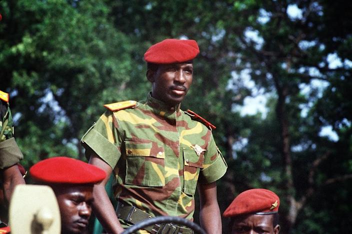 Lean and good-looking, Sankara broke dramatically with the stereotypical image of Africa's post-colonial rulers (AFP Photo/DANIEL LAINE)