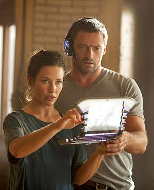 Evangeline Lilly and Hugh Jackman