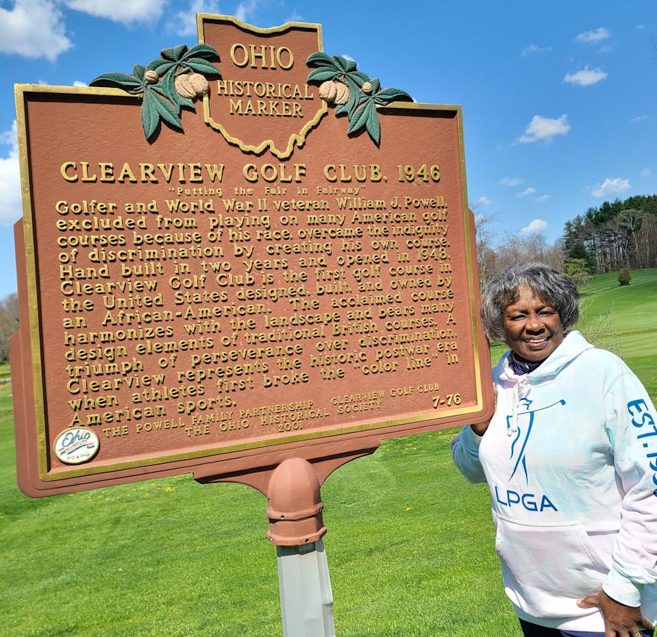 """Renee Powell, LPGA/PGA Head Golf Professional, at the National Historic Site  at Clearview Golf Club in East Canton, affectionately known as """"America's Course."""""""