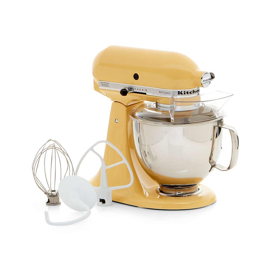 """This retro countertop mixer is a cult favorite among baking enthusiasts and newbies alike. More than 35,000 reviewers gave it an average of 4.9 stars, and it comes in 19 dreamy shades. $430, Crate & Barrel. <a href=""""https://www.crateandbarrel.com/kitchenaid-artisan-stand-mixer/s564044"""" rel=""""nofollow noopener"""" target=""""_blank"""" data-ylk=""""slk:Get it now!"""" class=""""link rapid-noclick-resp"""">Get it now!</a>"""