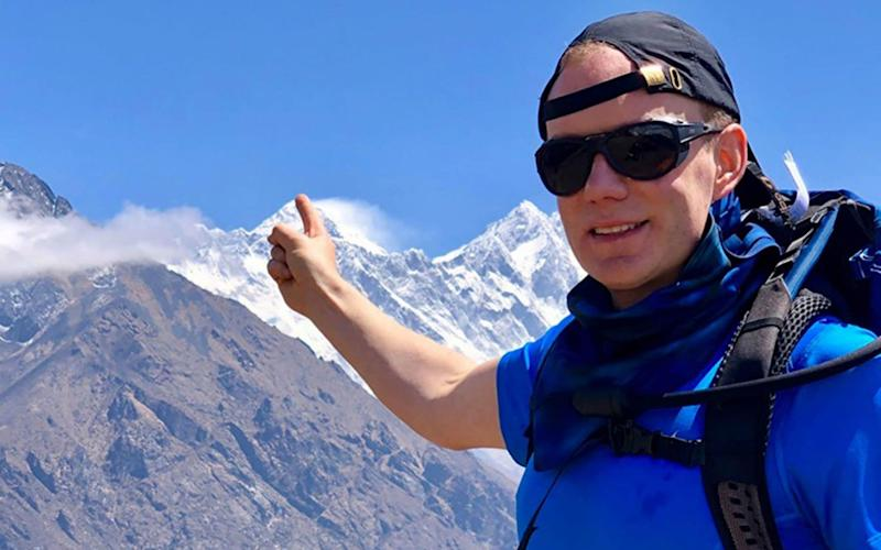 Robin Haynes Fisher on his way to climb Mount Everest - PA