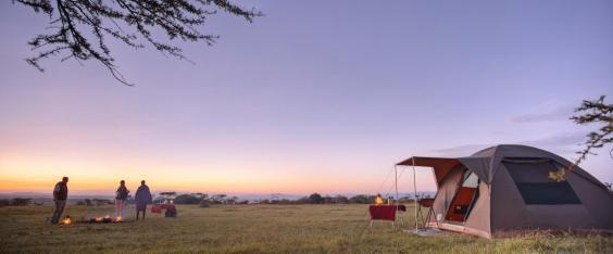 Sunrise over the Mara conservancy (Asilia)