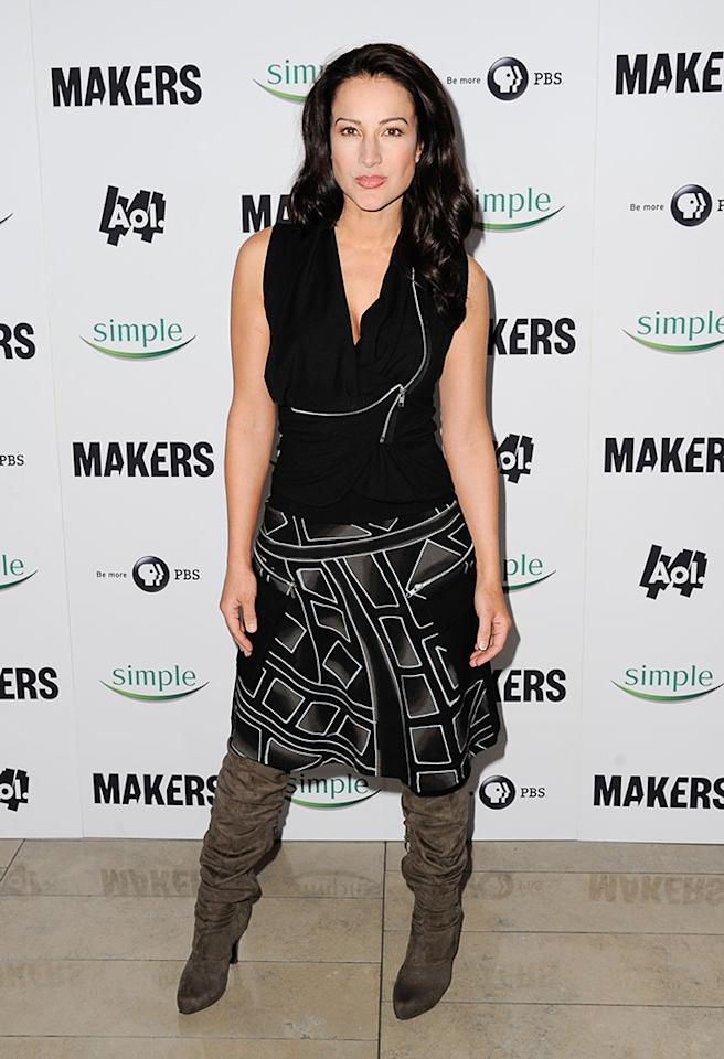 "America Olivo arrives at ""MAKERS: Women Who Make America"" New York Premiere at Alice Tully Hall on February 6, 2013 in New York City."