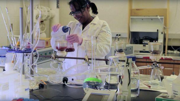 PHOTO: Dr. Asmeret Asefaw Berhe is shown at work in the soil biochemistry lab. (Hellman Family Foundation)