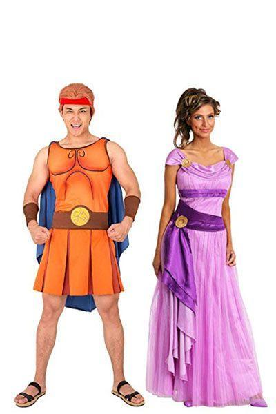"""<p>Hercules gave up being a god to live on Earth with Meg, so this costume is really as romantic as it can get.</p><p><a class=""""link rapid-noclick-resp"""" href=""""https://www.amazon.com/Cosplay-fm-Hercules-Cosplay-Running-Halloween/dp/B07PP7JCD8/?tag=syn-yahoo-20&ascsubtag=%5Bartid%7C10070.g.28691602%5Bsrc%7Cyahoo-us"""" rel=""""nofollow noopener"""" target=""""_blank"""" data-ylk=""""slk:SHOP HERCULES COSTUME"""">SHOP HERCULES COSTUME</a></p><p><a class=""""link rapid-noclick-resp"""" href=""""https://www.amazon.com/Disney-Hercules-Megara-Womens-Costume/dp/B07GT7Z1LP/?tag=syn-yahoo-20&ascsubtag=%5Bartid%7C10070.g.28691602%5Bsrc%7Cyahoo-us"""" rel=""""nofollow noopener"""" target=""""_blank"""" data-ylk=""""slk:SHOP MEG COSTUME"""">SHOP MEG COSTUME</a> </p>"""