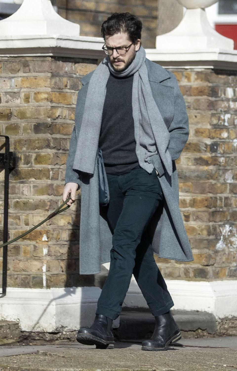 "<h1 class=""title""><em>EXCLUSIVE</em> Kit Harington pictured out and about in North London with his beloved pet dog</h1><cite class=""credit"">XPOS / Backgrid</cite>"