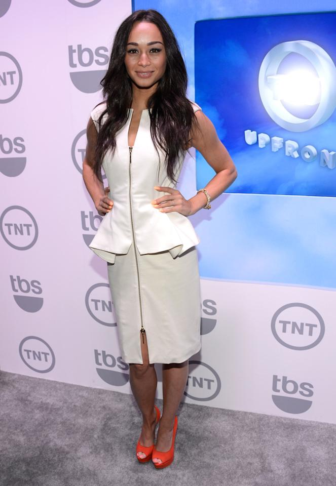 "Cara Santana (""Dallas"") attends the TNT/TBS 2012 Upfront Presentation at Hammerstein Ballroom on May 16, 2012 in New York City."