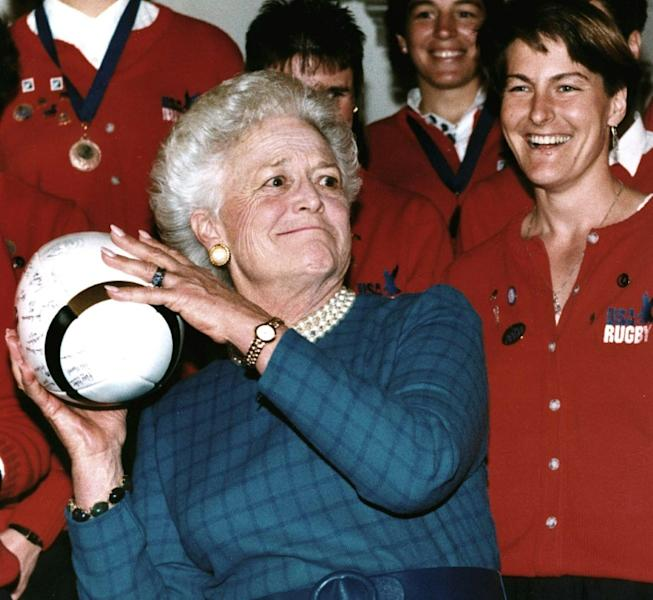 Barbara Bush, shown here in 1992, was the matriarch of one of America's great political families