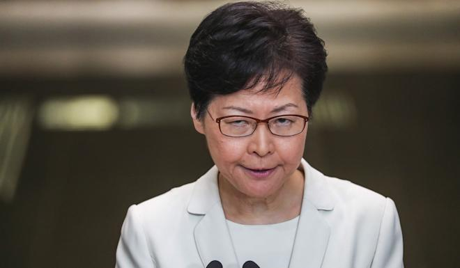Embattled: Hong Kong Chief Executive Carrie Lam. Photo: Sam Tsang