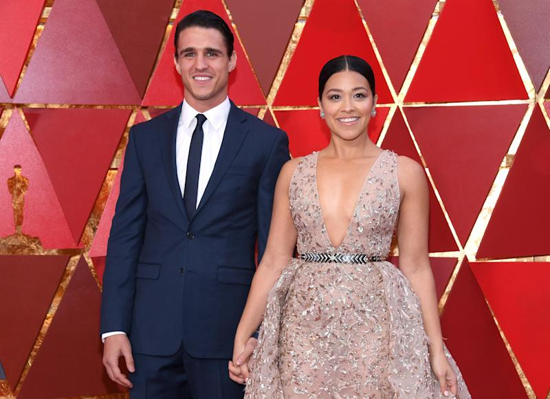 Gina Rodriguez and fellow actor Joe Locicero announced that they'd gotten engaged in August of 2018—two years he joined Rodriguez in an episode of Jane the Virgin, guest starring as a stripper.