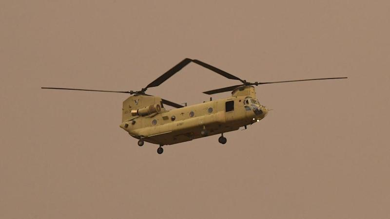 The ADF is flying in its Chinook helicopters to Kangaroo Island to assist bushfire recovery efforts
