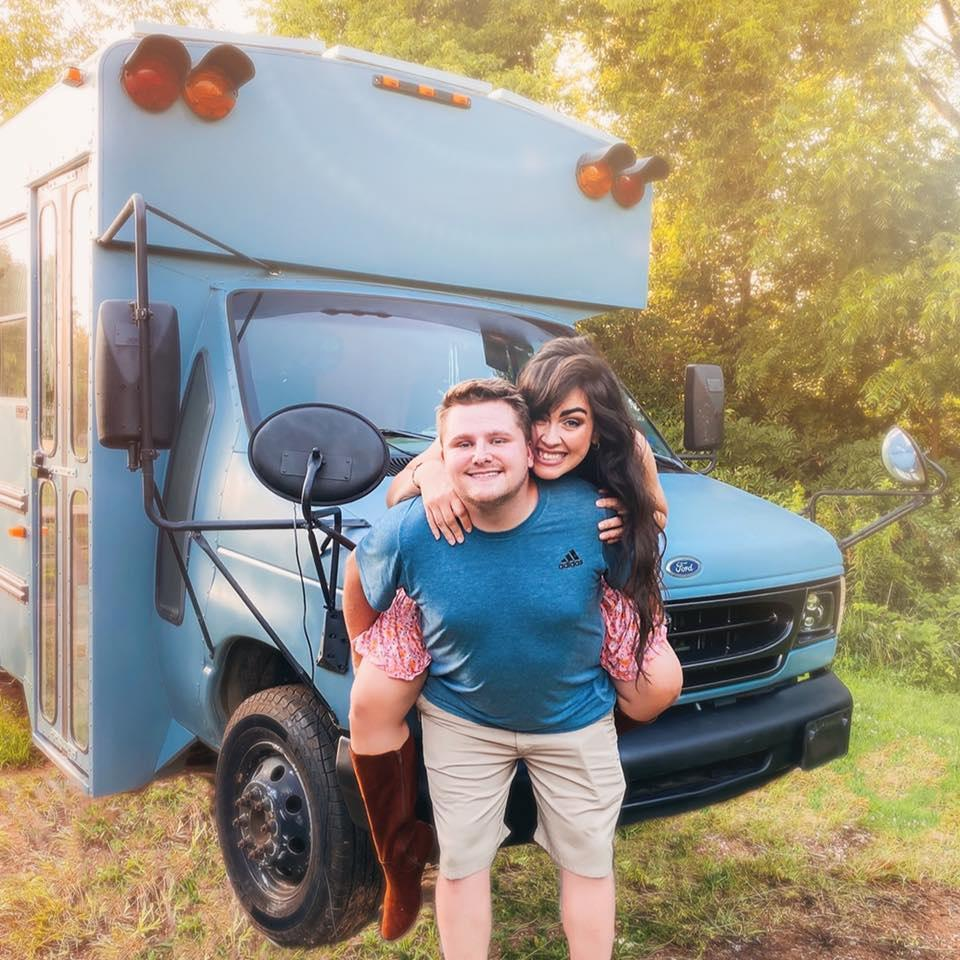 Joseph and April Teceno spent $3,750 on a 22-foot school bus in September. They spent under $12,000 converting it into a home on wheels.