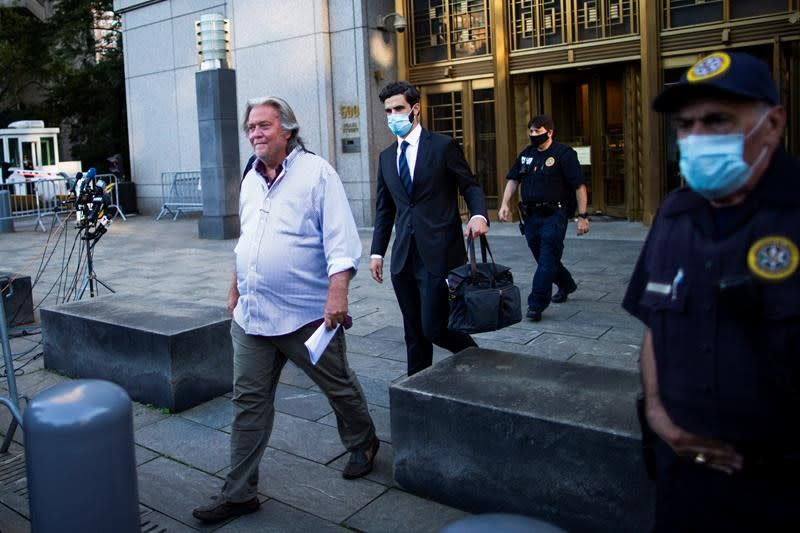 Ex-Trump aide Bannon pleads not guilty in border wall scheme