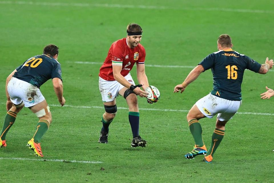 Iain Henderson (centre, in action against South Africa A) has accused Warren Gatland of ignoring form on the Lions tour  (Getty Images)