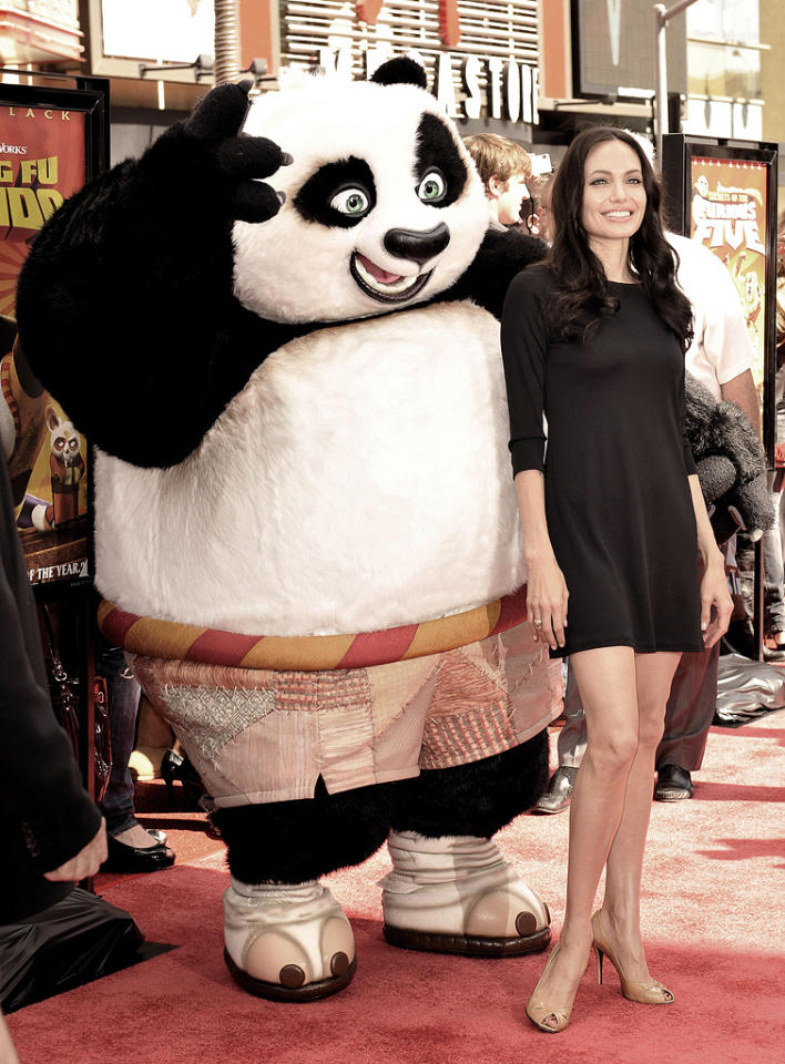 "<a href=""http://movies.yahoo.com/movie/contributor/1800019275"">Angelina Jolie</a> at the DVD release party for <a href=""http://movies.yahoo.com/movie/1809826133/info"">Kung Fu Panda</a> - 11/09/2008"