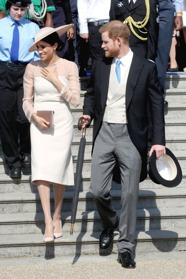 Meghan Markle and Prince Harry at Buckingham Palace