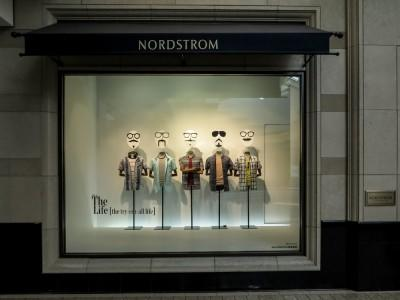 nordstrom, storefront, window, display, sign, design, exterior, retail, store, shop, retailer, market, clothing, america, business, symbol, boutique, editorial, collection,