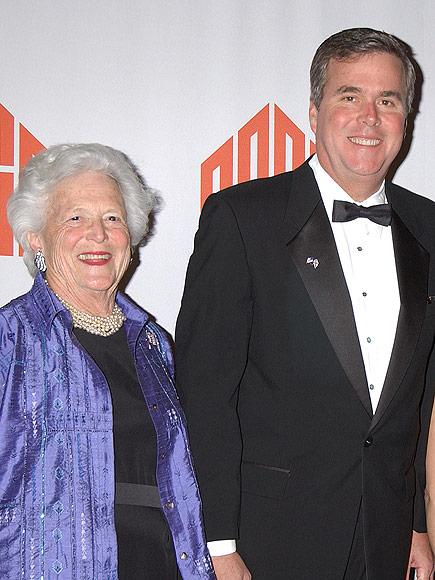 Barbara Bush Blasts a Certain Unnamed Candidate (Ahem, Donald Trump) But Says She Won't Get in a 'Spitting Match' with Him| 2016 Presidential Elections, politics, Barbara Bush, Jeb Bush