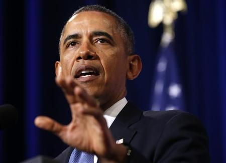 Obama speaks about the National Security Agency in Washington