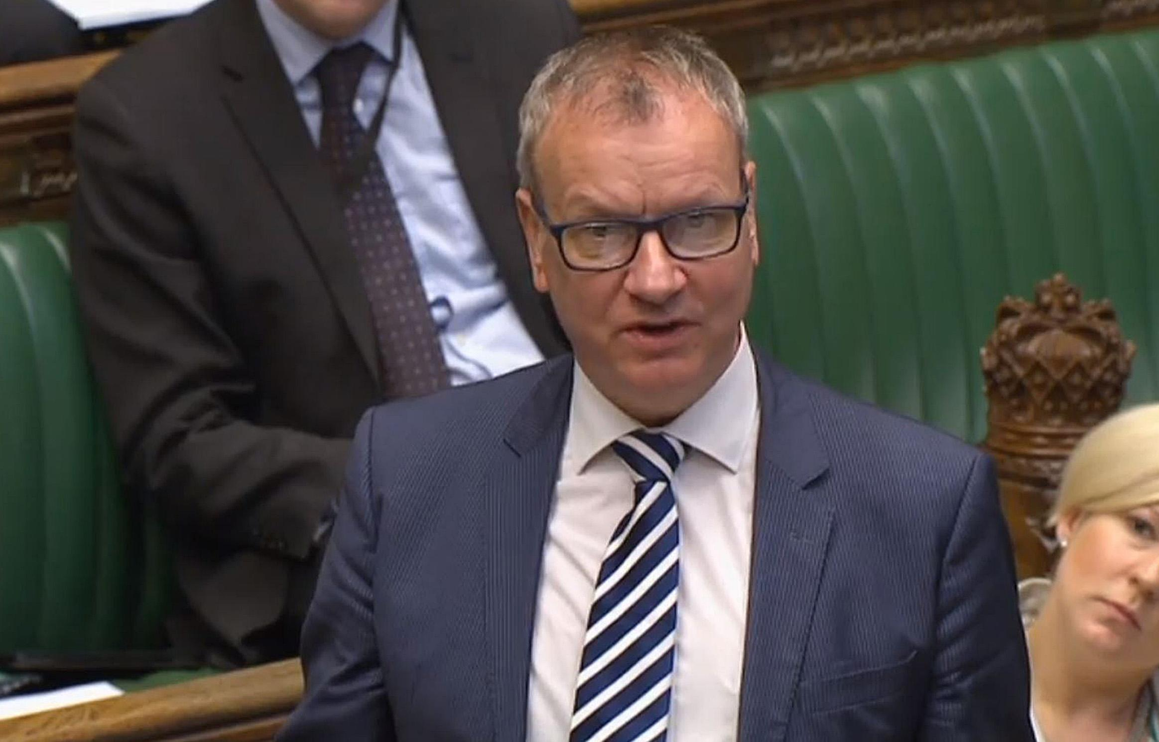 SNP Commons leader Pete Wishart speaks in the House of Commons, London, where he said that ministers must urgently explain whether or not the police investigation into Conservative MPs' election expenses swayed a decision for a snap election.
