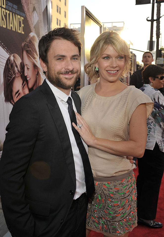 """<a href=""""http://movies.yahoo.com/movie/contributor/1807657139"""">Charlie Day</a> and Mary Elizabeth Ellis Day at the Los Angeles premiere of <a href=""""http://movies.yahoo.com/movie/1810105852/info"""">Going the Distance</a> - 08/23/2010"""