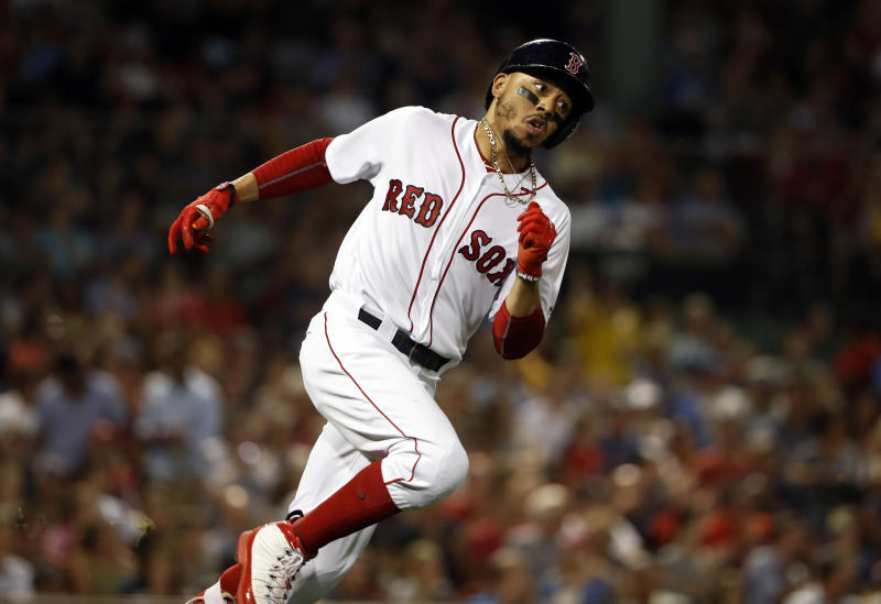 Mookie Betts and the Red Sox have won eight straight games, making them the easy choice for No. 1 this week in our MLB Power Rankings. (AP)