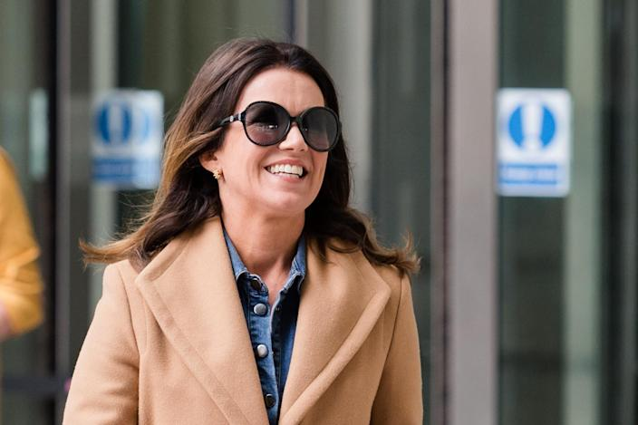 Susanna Reid leaves the BBC Broadcasting House in central London after appearing on The Andrew Marr Show on 14 July, 2019 in London, England. (Photo credit should read Wiktor Szymanowicz / Barcroft Media via Getty Images)