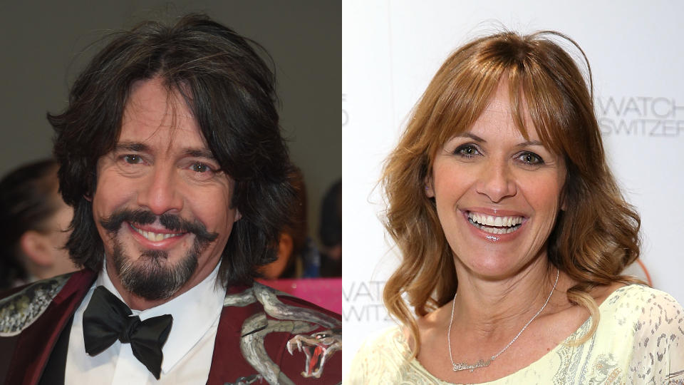 Laurence Llewelyn-Bowen and Carol Smillie fronted 'Changing Rooms' in the late 1990s. (Anthony Harvey/Getty Images/Mike Marsland/WireImage/Watches of Switzerland/Brick by Brick)