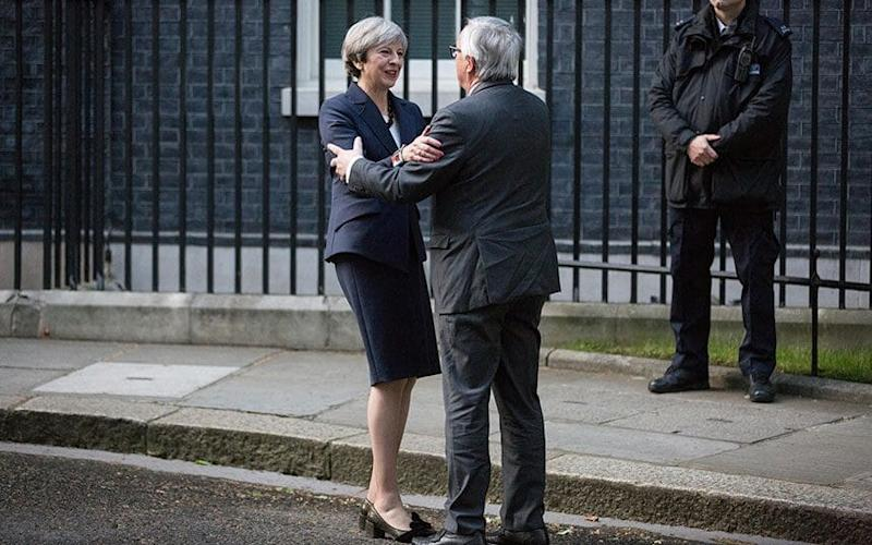 Prime Minister Theresa May welcomes European Commission President Jean-Claude Juncker to 10 Downing Street - Credit: Mark Kerrison / Alamy Live News