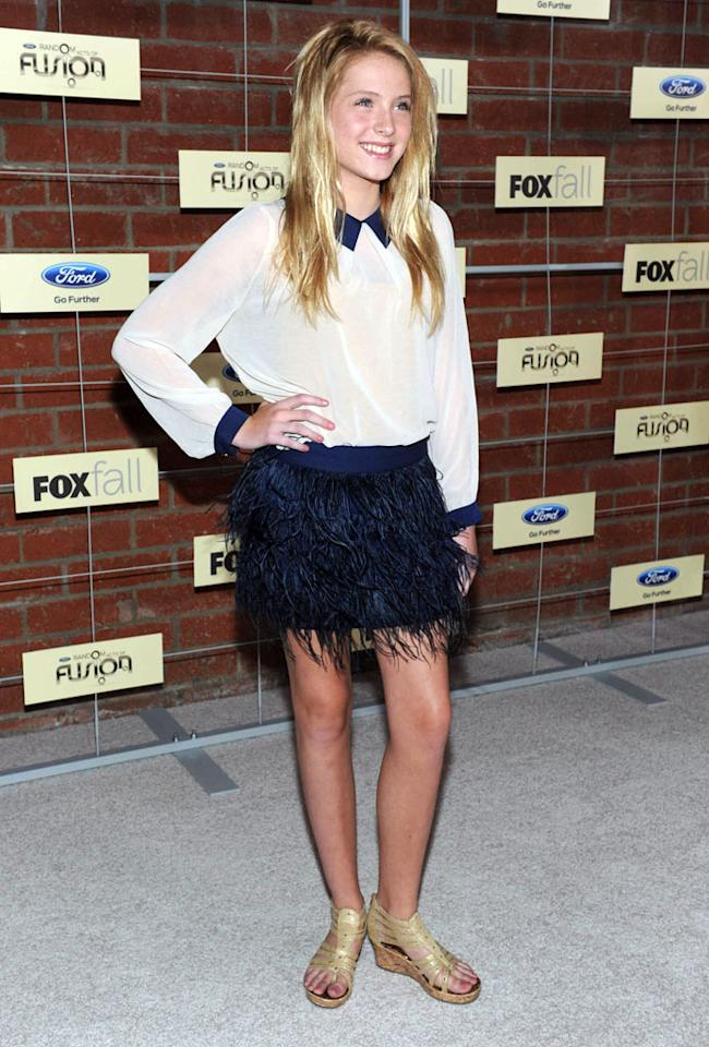 """Saxon Sharbino (""""Touch"""") attends Fox's Fall 2012 Eco-Casino party at The Bookbindery on September 10, 2012 in Culver City, California."""
