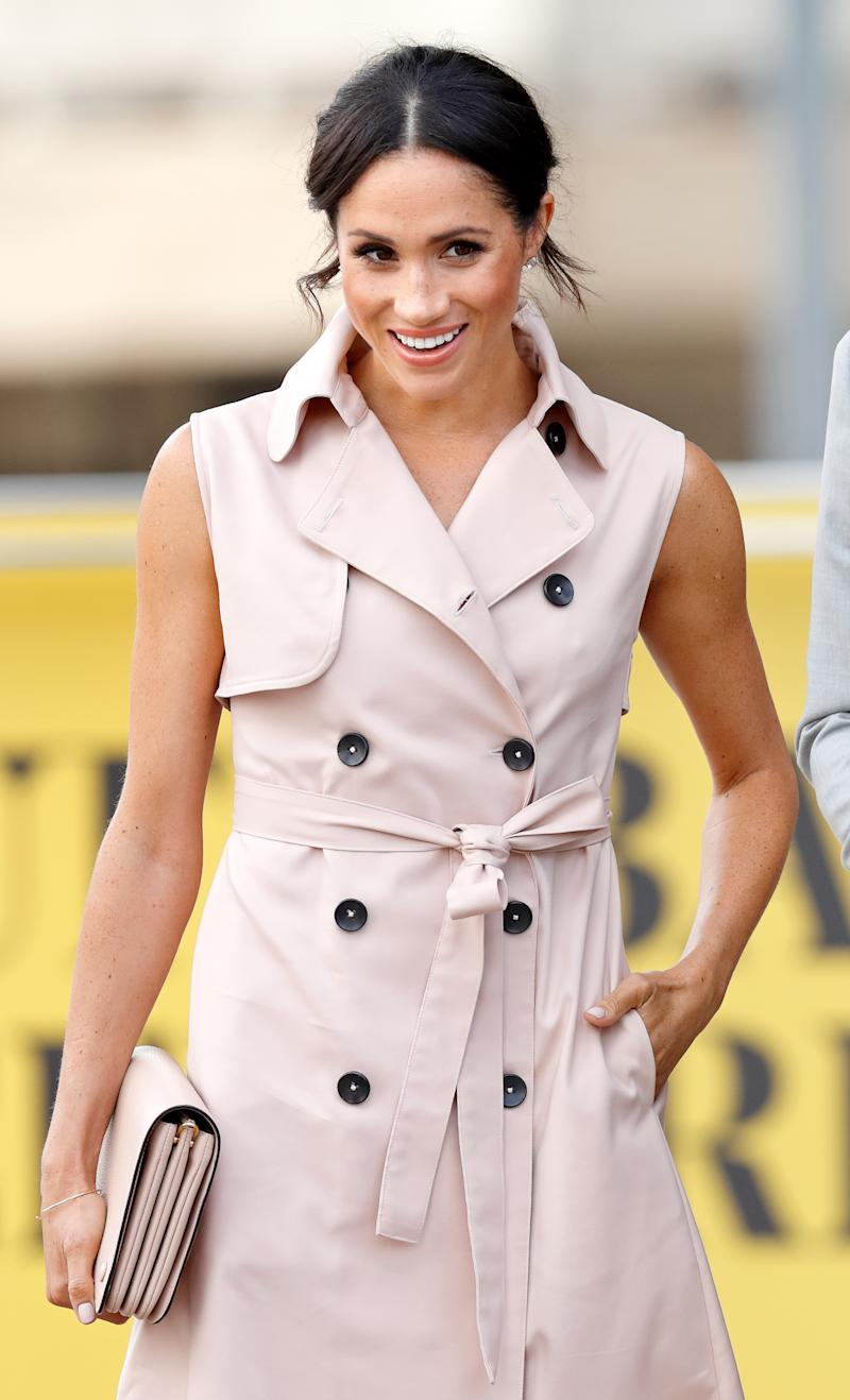 Meghan, Duchess of Sussex visits The Nelson Mandela Centenary Exhibition at the Southbank Centre on July 17, 2018 in London, England. The exhibition explores the life and times of Nelson Mandela and marks the centenary of his birth. (Photo by Max Mumby/Indigo/Getty Images)
