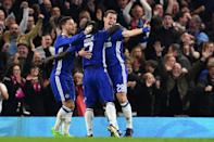 With a 10-point lead over second placed Tottenham, Chelsea look odds on to regain the title two years after they were last crowned champions (AFP Photo/Glyn KIRK)