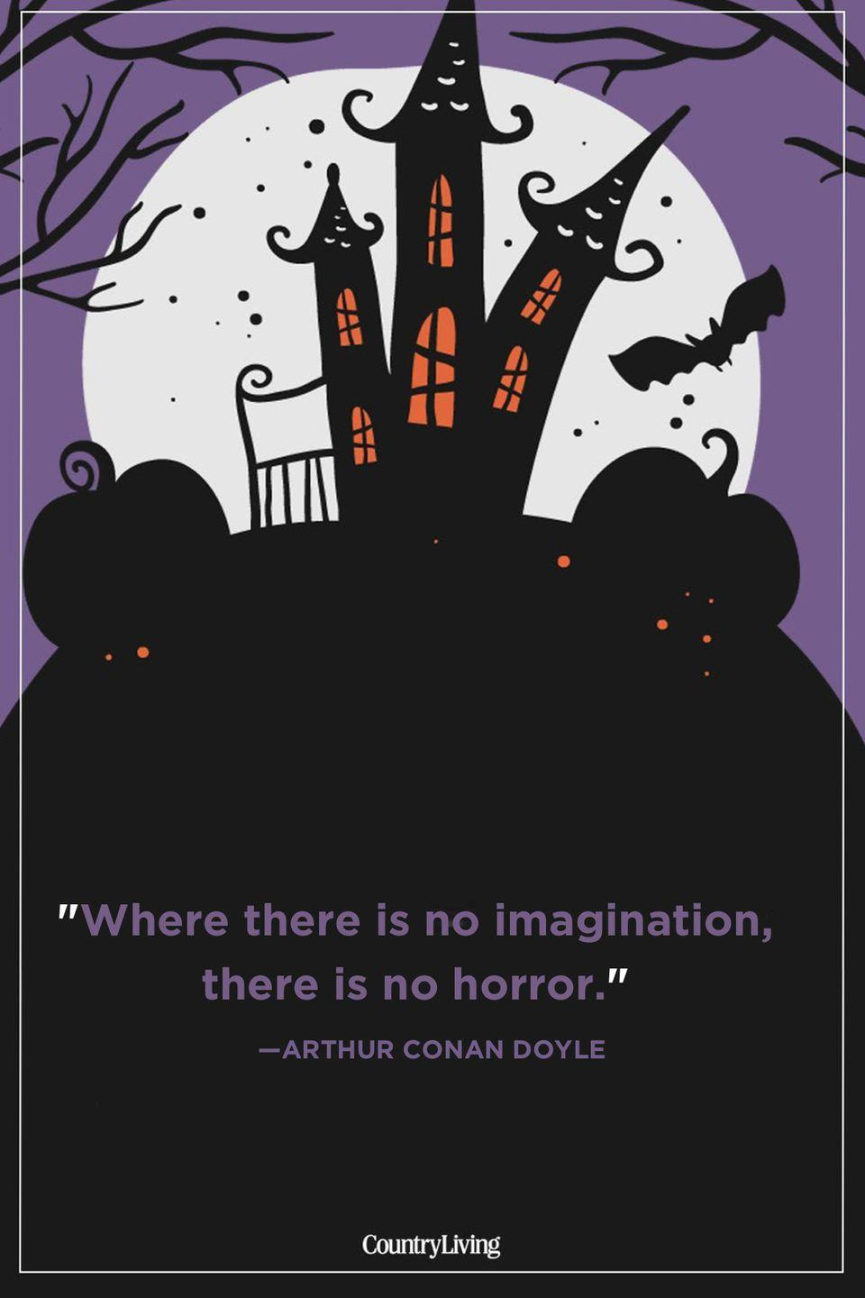 """<p>""""Where there is no imagination, there is no horror.""""</p>"""