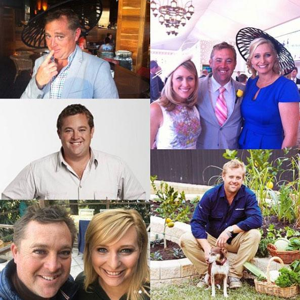 A collage of photos of Jason Hodges on Better Homes and Gardens