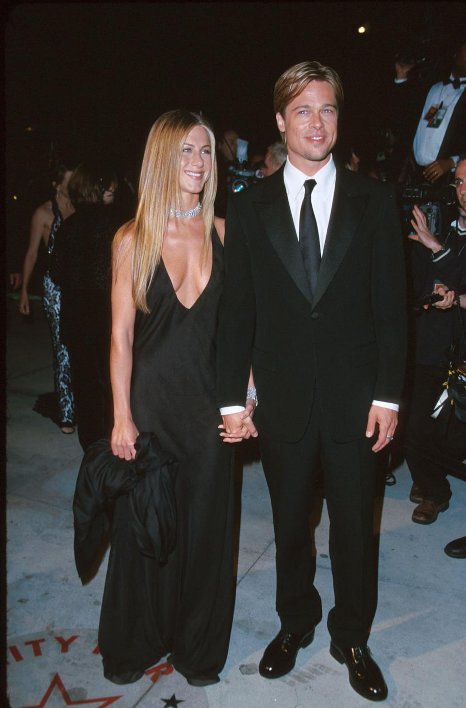It was a new millennium and a new era for fashion as Aniston sent photographers into a frenzy at the 7th Annual Vanity Fair Oscar Party. (Photo by Jeff Vespa Archive/WireImage)