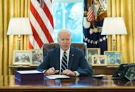 US President Joe Biden signed the huge American Rescue Plan into law