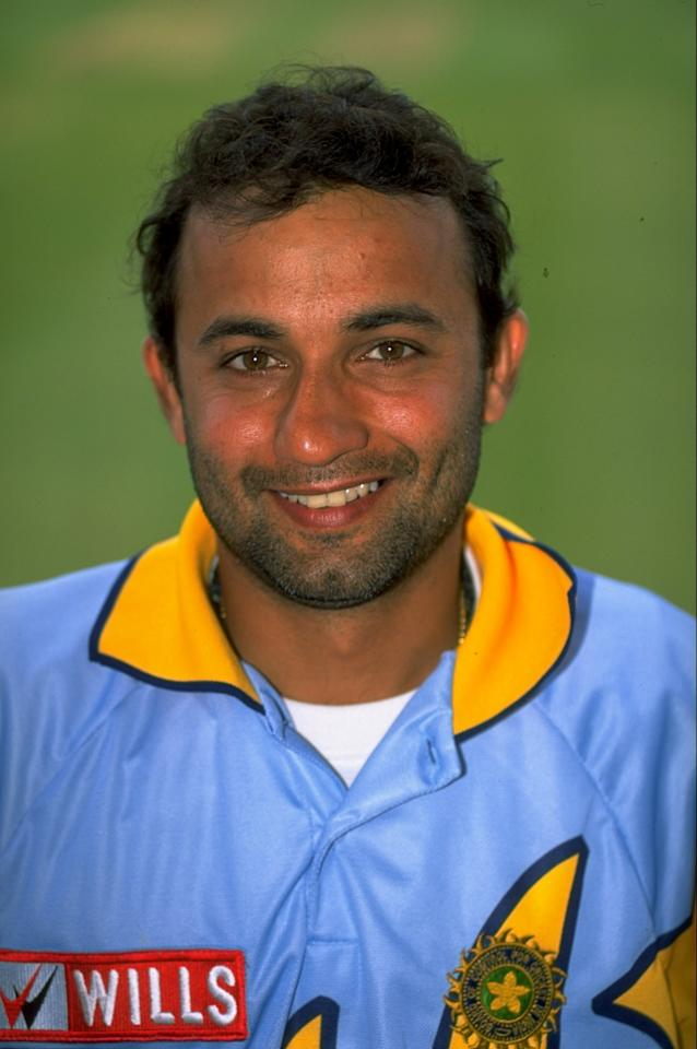 May 1999:  Portrait of Nayan Mongia of India. \ Mandatory Credit: Stu Forster /Allsport