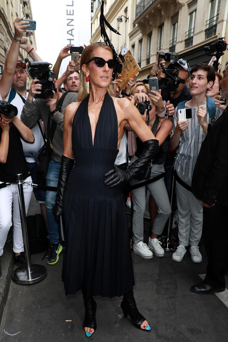 PARIS, FRANCE - JULY 01: Celine Dion attends the Schiaparelli Haute Couture Fall/Winter 2019 2020 show as part of Paris Fashion Week on July 01, 2019 in Paris, France. (Photo by Pierre Suu/Getty Images)