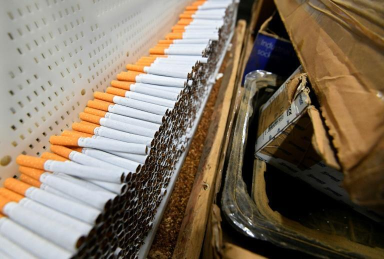 The cigarette packing machine worked day and night to produce million of smokes for the British market
