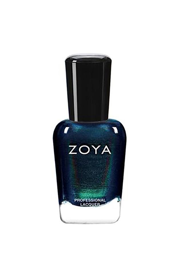 """<p>A shape-shifting color that looks deep blue in some light, shimmery green in another, and poisoned purple in others. """"Enchanted,"""" indeed. </p><p><strong>Zoya Enchanted Collection in """"Olivera,"""" $10; <a rel=""""nofollow"""" href=""""http://www.zoya.com/content/category/ZOYA_COLLECTION_HOLIDAY_ENCHANTED.html?col=ZP872"""">zoya.com</a>.</strong></p>"""
