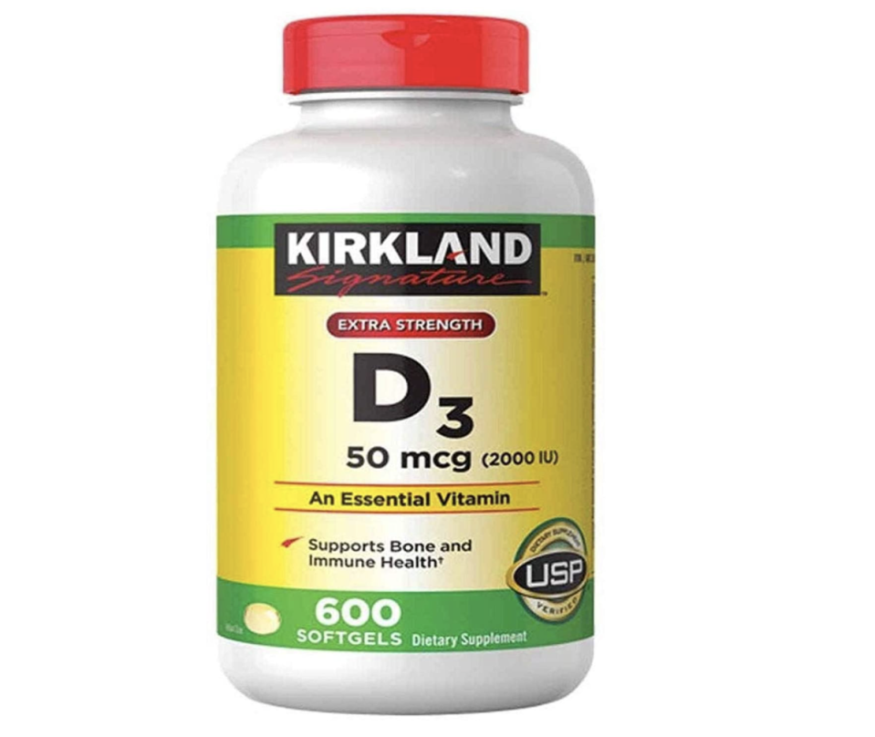 """<p><strong>Kirkland Signature</strong></p><p>amazon.com</p><p><strong>$13.42</strong></p><p><a href=""""https://www.amazon.com/dp/B00EXPV502?tag=syn-yahoo-20&ascsubtag=%5Bartid%7C2141.g.35686472%5Bsrc%7Cyahoo-us"""" rel=""""nofollow noopener"""" target=""""_blank"""" data-ylk=""""slk:Shop Now"""" class=""""link rapid-noclick-resp"""">Shop Now</a></p><p>Costco's store-brand vitamin soft gels have everything you need—with zero frills. Each soft gel delivers <strong>2,000 IU vitamin D</strong>, and with 600 doses in a bottle, you won't have to worry about restocking for a <em>while. </em>Best of all, they're USP-verified.</p>"""