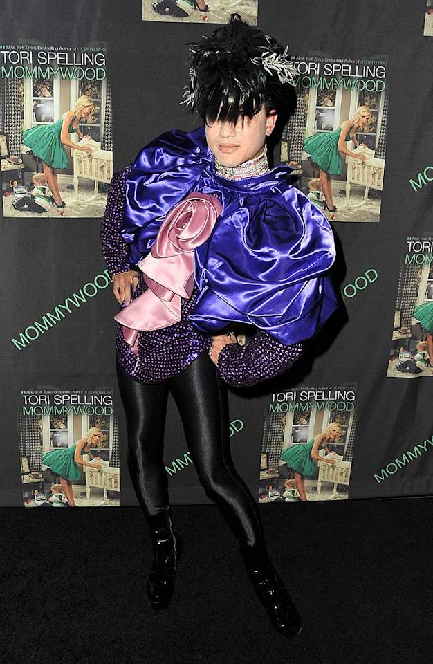"But Kim's fashion faux pas was nothing compared to Bobby Trendy's bolero bomb. He looked like he was caught in a gift wrap explosion! Jordan Strauss/<a href=""http://www.wireimage.com"" target=""new"">WireImage.com</a> - April 13, 2009"