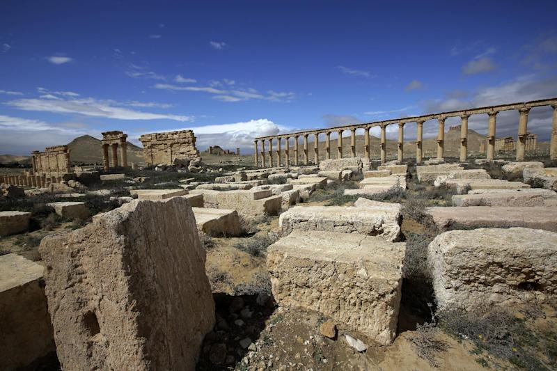 The ancient oasis city of Palmyra on March 14, 2014