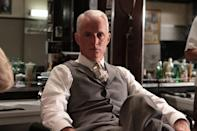 <p>As the enigmatic Roger Sterling, Slattery was nominated for four supporting Emmy nominations for his ability to blend Roger's ambition with his easygoing charm. </p>
