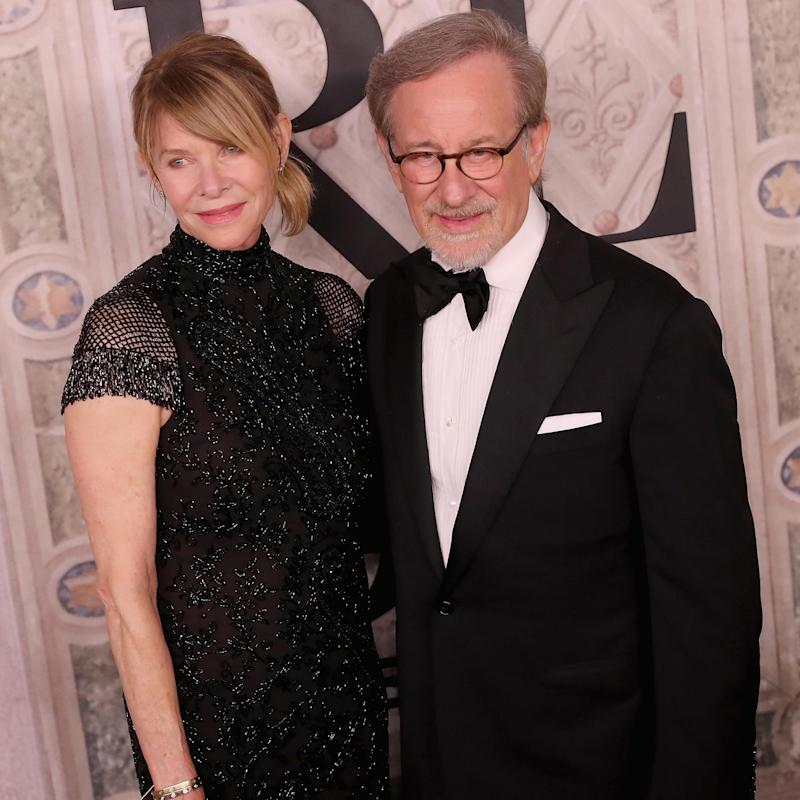 Mikaela's parents: Kate Capshaw and Steven Spielberg (Getty Images)