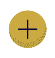 a yellow circle with a plus sign