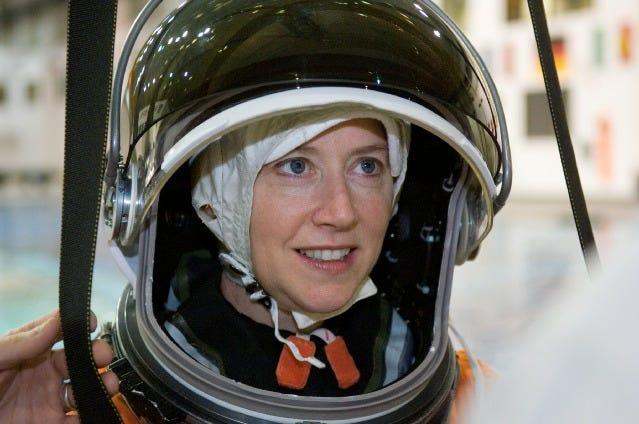 Pamela Melroy was the second female shuttle commander, serving as a pilot on two missions prior to commanding STS-120 in Oct. 2007.
