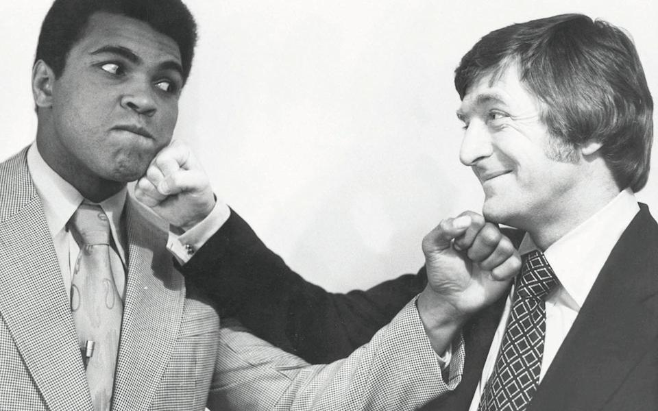 Parkinson interviewed heavyweight champion Muhammad Ali four times – this one was in 1974  - BBC