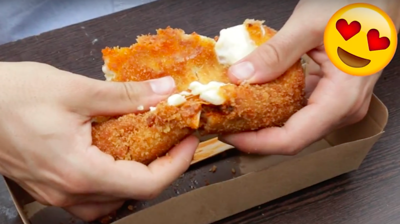 The deep-fried lasagnas perfect for those who're needing a break from all those sweet desserts. Source: Be