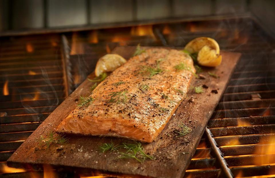 "<p>Before grilling salmon, North Dakotans should decide whether they want to cook steaks or filets. While both are suitable for the grill, filets are easier to eat than steaks. But no matter which you choose to use, there's no denying that eating salmon is a <a href=""https://www.thedailymeal.com/healthy-eating/ways-increase-vitamin-d-foods?referrer=yahoo&category=beauty_food&include_utm=1&utm_medium=referral&utm_source=yahoo&utm_campaign=feed"" rel=""nofollow noopener"" target=""_blank"" data-ylk=""slk:great way to boost your vitamin D"" class=""link rapid-noclick-resp"">great way to boost your vitamin D</a>.</p>"
